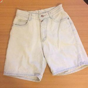 Vintage Lee jean shorts, distressed